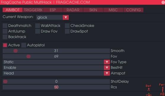 FragCache aimbot ESP csgo hack