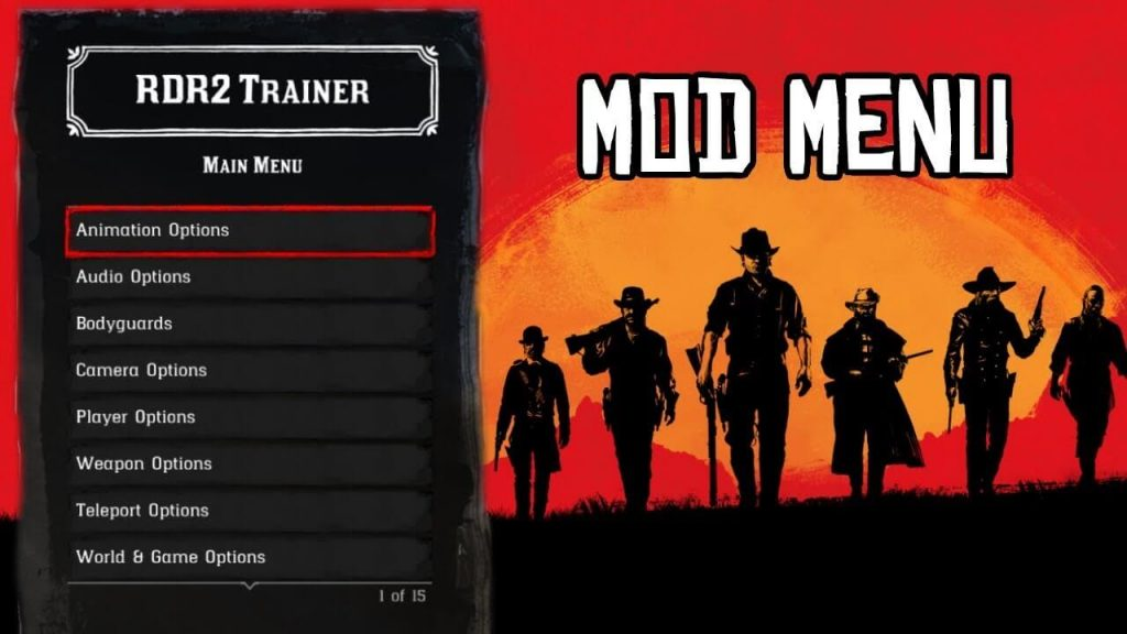 RDR2 trainer mod menu for PC, PS4 and Xbox